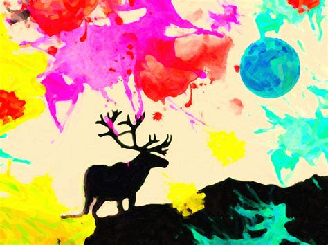 colors and the elk painting by celestial images