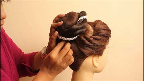 Indian Bridal Hairstyles by estherkinder   YouTube