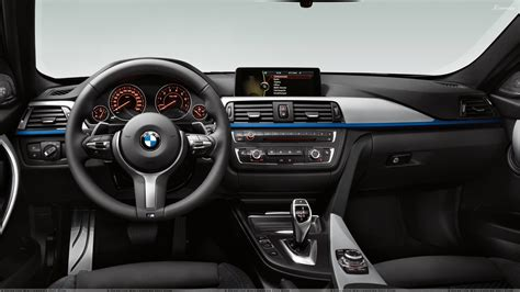 Dashboard Of Bmw 3 Series F30 M Sports Package Wallpaper