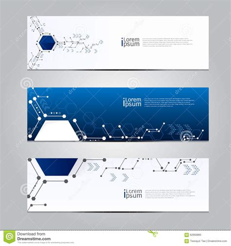 design technology banner vector design banner technology background vector