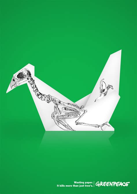 Origami Advertising - greenpeace print advert by smith origami ads of