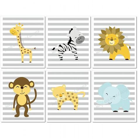 printable animal pictures for nursery jungle nursery wall art giraffe lion by