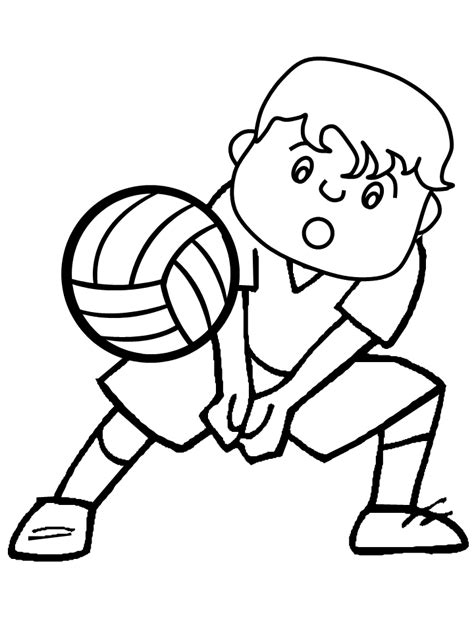 coloring pages volleyball free printable volleyball coloring pages for kids