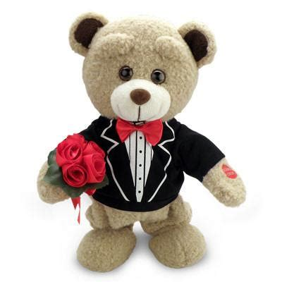Pictures Of Teddy Bears In Tuxedos | tuxedo teddy bear singing quot how sweet it is to be loved by