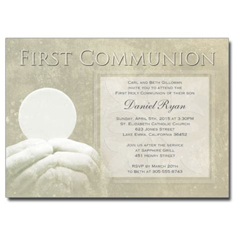 first communion non photo invitations