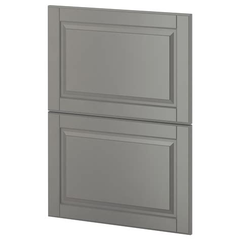 Door Fronts For Ikea Cabinets Metod 2 Fronts For Dishwasher Bodbyn Grey 60 Cm Ikea