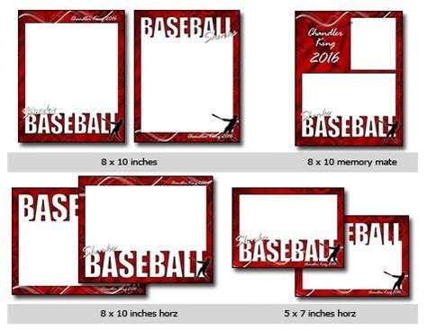 baseball card photoshop template free sports baseball vol 4 phototshop and elements templates