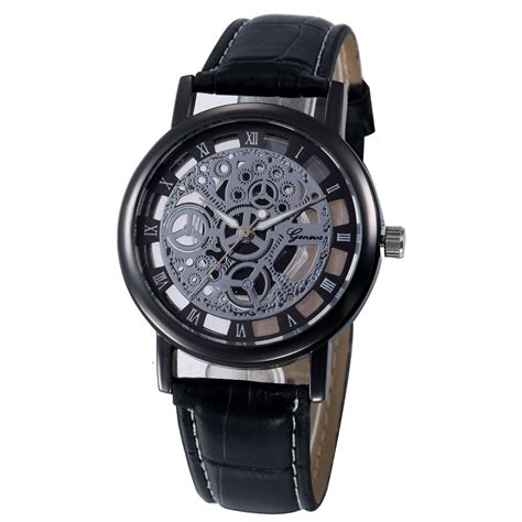 geneva watches sport faux leather analog quartz