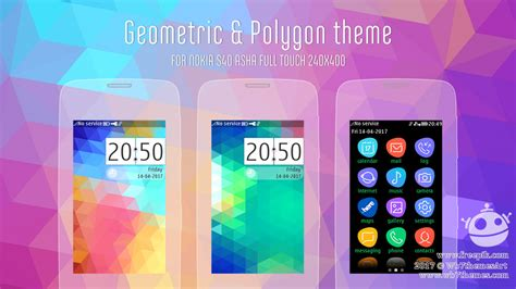 theme asha 311 full touch geometric and polygon theme asha 311 310 309 full touch