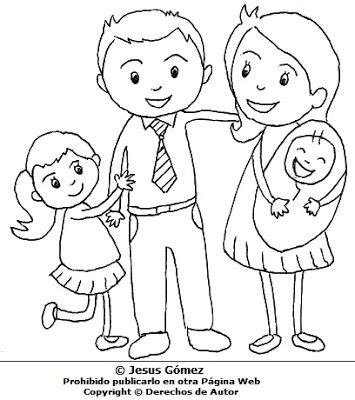 juegos de familia para colorear imprimir y pintar hijos con sus padres para colorear pintar dibujo de hijos