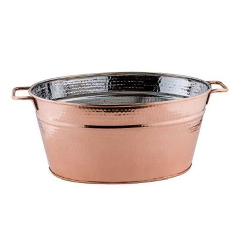 behrens 16 gal dipped steel oval tub 3ovx the home