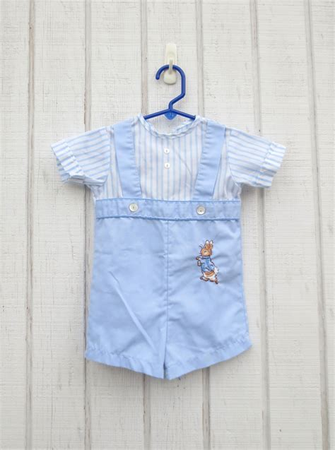 vintage baby clothes rabbit baby onesie toddle by