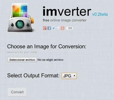 conversor imagenes jpg online imverter conversor de formatos de im 225 genes online