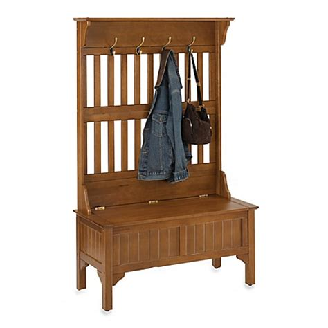 home styles hall tree and storage bench buy home styles hall tree and storage bench in cottage oak