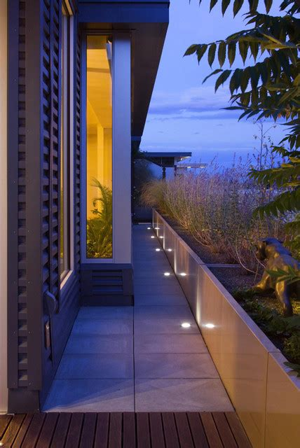 Landscape Architecture Lighting In Floor Lighting Modern Landscape New York By R Design Landscape Architecture P C