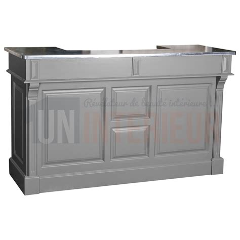 meuble bar comptoir meuble bar pin 180cm pin zinc