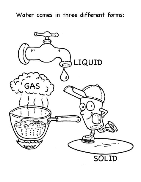 Condensation Losai Water Cycle Map Easy Free Water Cycle Water Cycle Coloring Page