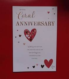 coral 35th wedding anniversary card suitable for all etc ebay