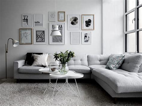 beautiful white  grey living room interior