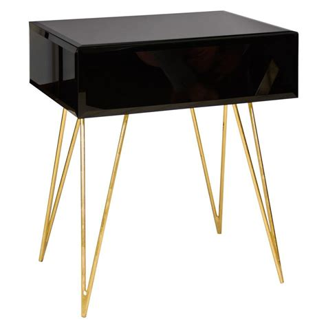 Glass Bedroom End Tables 1000 Ideas About Black Glass Side Table On
