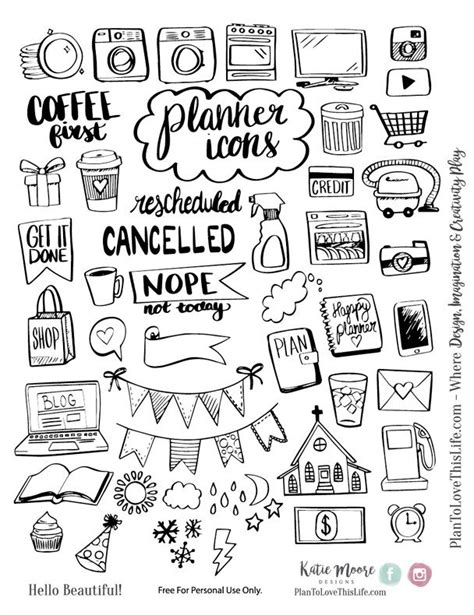 printable planner doodles best 25 planner doodles ideas on pinterest bujo doodles