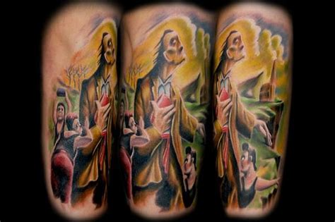 watercolor tattoo omaha artist lenny renken big brain productions omaha ne