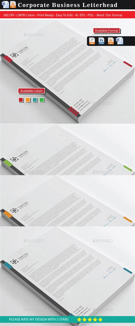 Letterhead Charity Number corporate letterhead stationery print templates