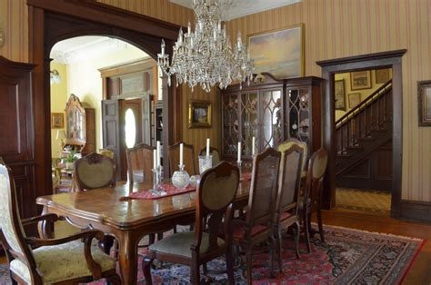 1800s living room walnut dining table dining room traditional with 1800s antique cartwright chairs