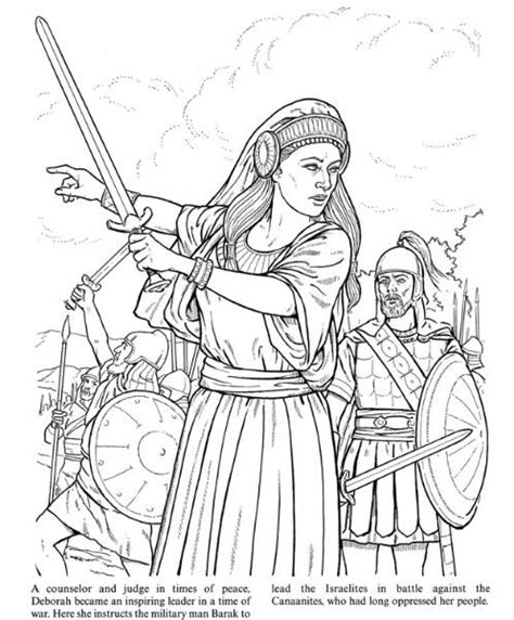 coloring pages for the book of judges deborah judges 4 coloring bible ot joshua ruth