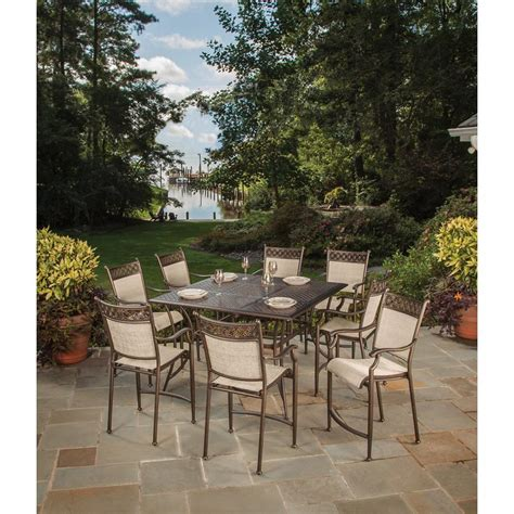 3 bar height patio dining sets to enjoy outdoor bar outdoor dining furniture at the home depot