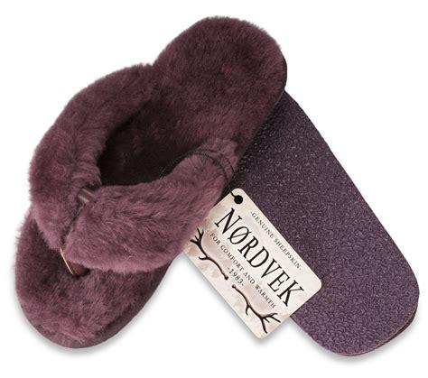 shearling flip flop slippers nordvek genuine sheepskin flip flop slippers thongs