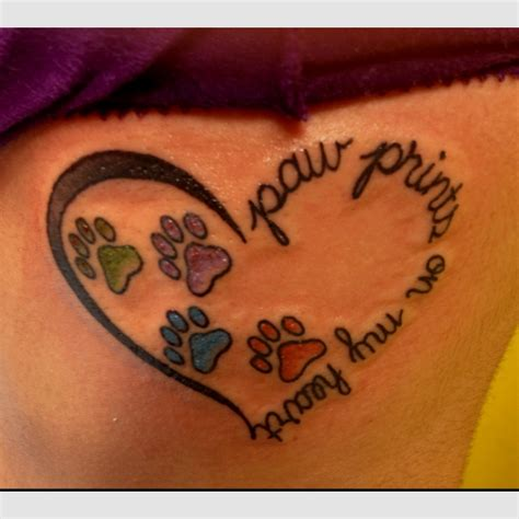 paw print heart tattoo designs 60 best images about paw tattoos on