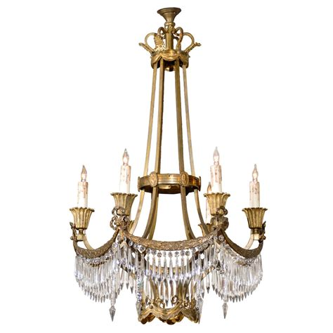 Neoclassical Chandelier Neoclassical Gilt Bronze And Chandelier At 1stdibs