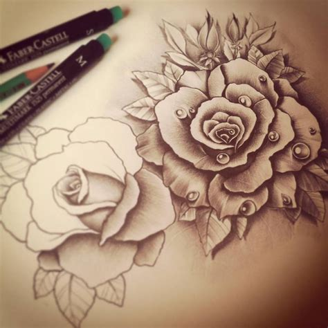 roses tattoo drawing working progress roses design by edwardmiller on deviantart