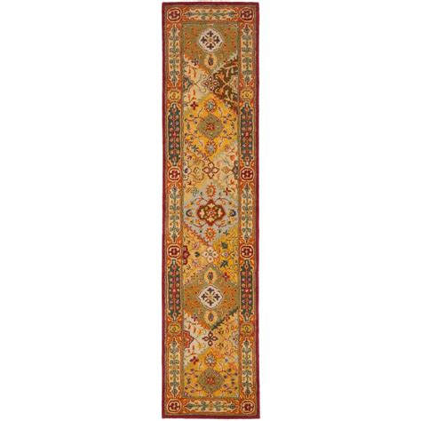 rug runners home depot safavieh heritage multi 2 ft 3 in x 22 ft rug runner hg512a 222 the home depot