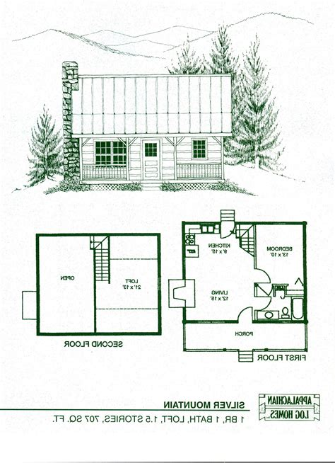 Small Cabin Floor Plans With Loft Log Cabin With Loft Floor Plans Log Cabins With Lofts Floor Plans 20 Wide 1 12 Story Cottage W Loft
