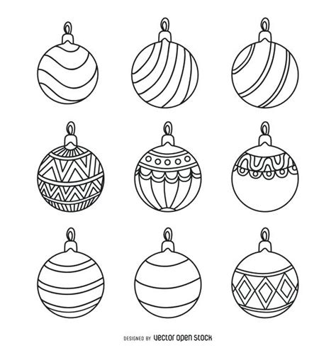 christmas ornament outlines printable ornament outline pattern ornament outlines tactac co