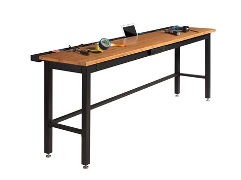 Bamboo Bench Bar Newage 96 Inch Bamboo Work Bench With Power Bar 31091 In