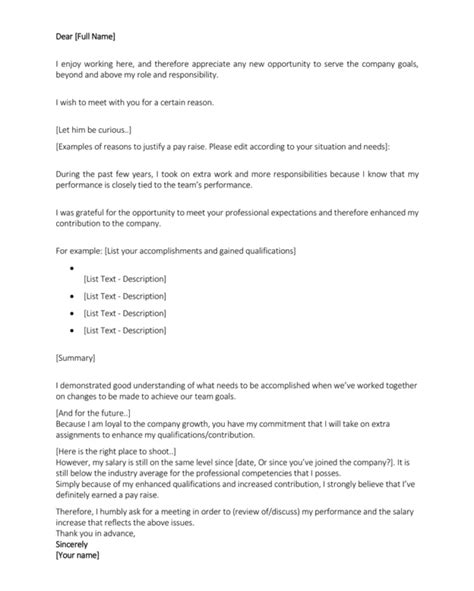 salary increase letter 12 salary increases letter formats sles for word and pdf