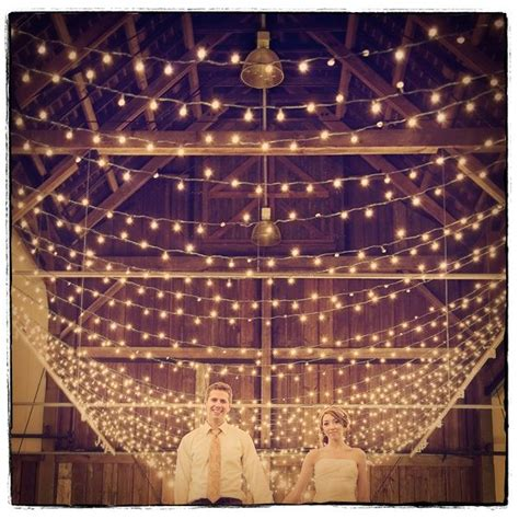 twinkle lights for the pavilion wedding decoration ideas