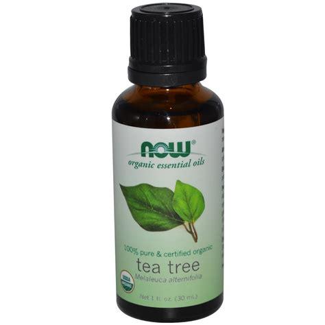 Essential Oils by Now Foods Organic Essential Oils Tea Tree 1 Fl Oz 30
