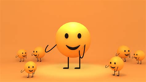 happy dance emoji 3d toon yellow emoji dance 3d animation character
