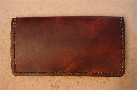 Handmade Leather Checkbook Covers - handmade brown leather checkbook cover leather wallet