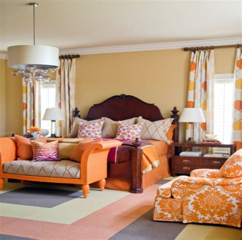 orange bedroom accessories orange bedroom design interior designing ideas