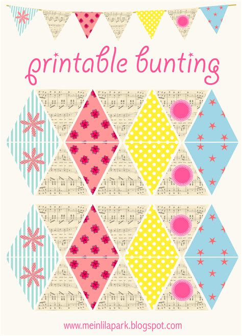 diy free free printable diy bunting with vintage flair