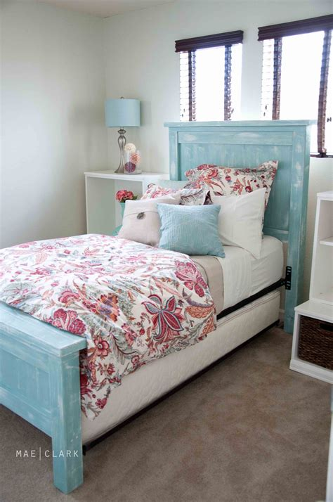 ana white twin bed ana white twin farmhouse bed a beachy ish version