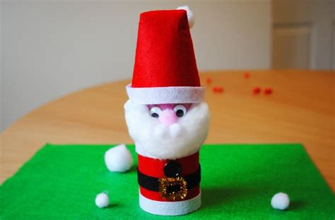 santa toilet paper roll craft santa craft how to make a toilet roll santa