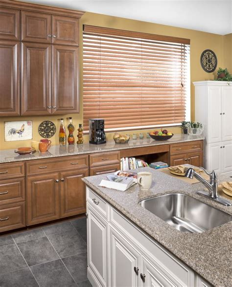 wolf classic cabinets in hudson heritage brown with a