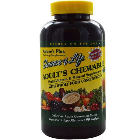 Multivitamin Plus nature s plus source of 90 chewable tablets