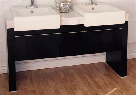 57 Inch Sink Vanity by 57 75 Inch Sink Bathroom Vanity With A Black Finish